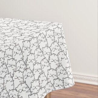 Cute cartoon cats pattern tablecloth