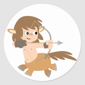 Cute Cartoon Centaur Sagittarius Baby Apparel Classic Round Sticker