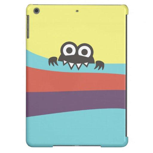 Cute Cartoon Character With Sharp Teeth Colorful iPad Air Cases