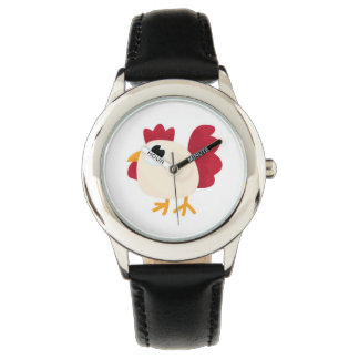 Cute Cartoon Chicken Doodle Wrist Watches