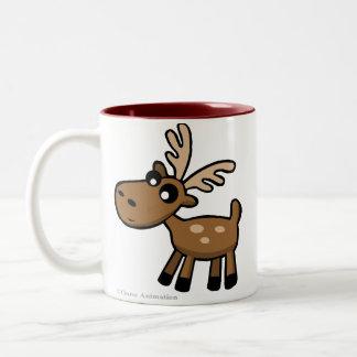 Cute cartoon chocolate Moose from Canada Mug