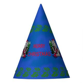 Cute Cartoon Christmas Santa Elephant Party Hat