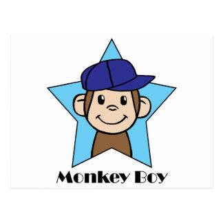 Cute Cartoon Clip Art Happy Monkey in Star w Hat Postcard