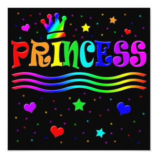 Cute Cartoon Clip Art Princess Bachelorette Party! 13 Cm X 13 Cm Square Invitation Card