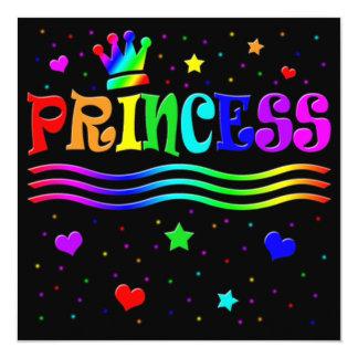 Cute Cartoon Clip Art Princess Girl Birthday Party Personalized Invitation