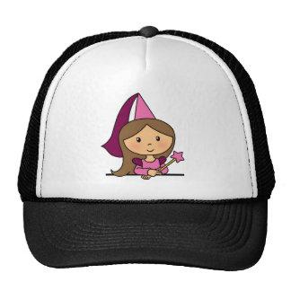 Cute Cartoon Clip Art Princess in a Pink Dress Mesh Hats