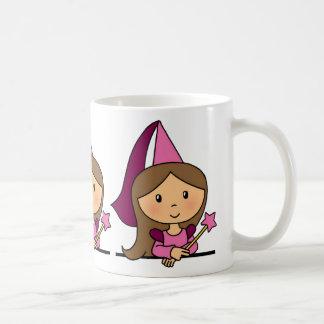 Cute Cartoon Clip Art Princess in a Pink Dress Mugs