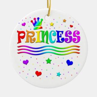 Cute Cartoon Clip Art Rainbow Princess Tiara Christmas Tree Ornaments