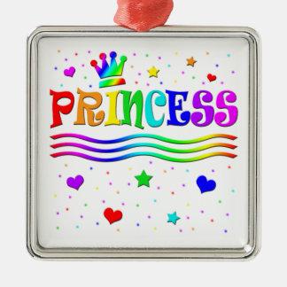 Cute Cartoon Clip Art Rainbow Princess Tiara Christmas Tree Ornament