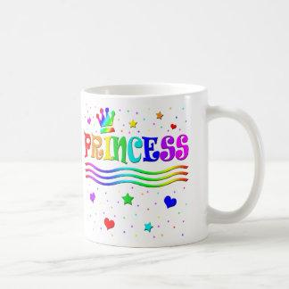 Cute Cartoon Clip Art Rainbow Princess Tiara Coffee Mugs