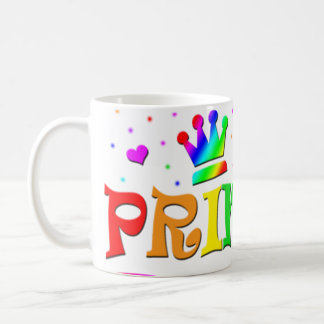 Cute Cartoon Clip Art Rainbow Princess Tiara Mug