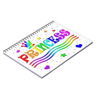 Cute Cartoon Clip Art Rainbow Princess Tiara Spiral Note Books