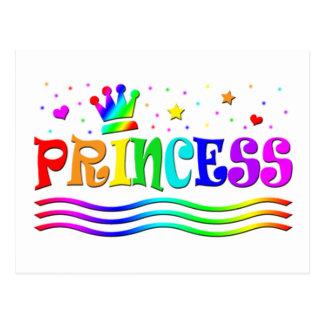 Cute Cartoon Clip Art Rainbow Princess Tiara Postcard
