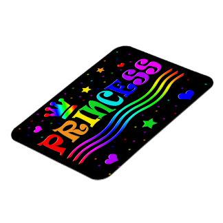 Cute Cartoon Clip Art Rainbow Princess Tiara Rectangular Photo Magnet
