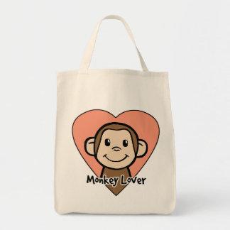 Cute Cartoon Clip Art Smile Monkey Love in Heart Bag