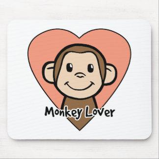 Cute Cartoon Clip Art Smile Monkey Love in Heart Mouse Pad