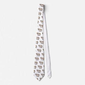 Cute Cartoon Cow Brown and White Tie