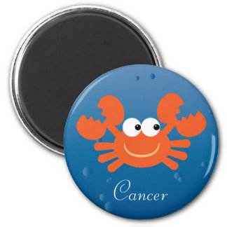 Cute Cartoon Crab Cancer Zodiac Sign Custom 6 Cm Round Magnet