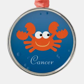 Cute Cartoon Crab Cancer Zodiac Sign Custom Silver-Colored Round Decoration