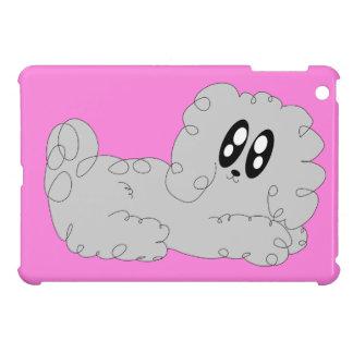 Cute Cartoon Curly Poodle Puppy Dog iPad Mini Covers