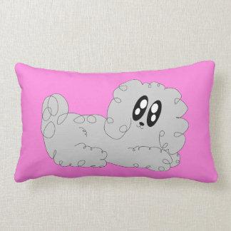 Cute Cartoon Curly Poodle Puppy Dog Lumbar Cushion