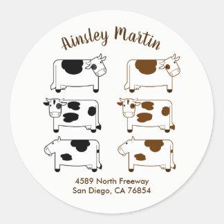 Cute Cartoon Dairy Cows Envelope Seal