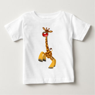 Cute Cartoon Dancing Giraffe Baby T-Shirt