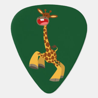 Cute Cartoon Dancing Giraffe Guitar Pick