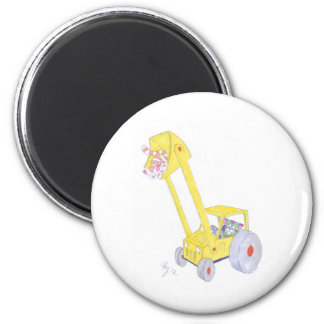cute cartoon digger and cats magnets