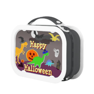 Cute Cartoon Dinosaurs Happy Halloween Lunch Boxes