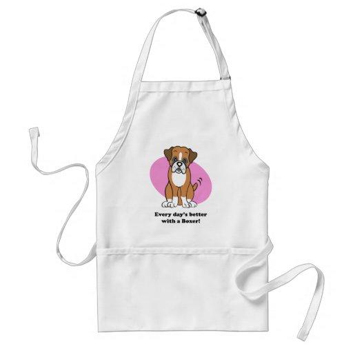Cute Cartoon Dog Boxer Apron