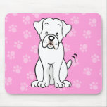 Cute Cartoon Dog Boxer Mousepad
