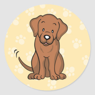 Cute Cartoon Dog Labrador Sticker