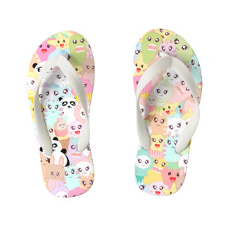 Cute cartoon doodles kid's thongs
