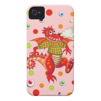 Cute cartoon Dragon & dots Case-Mate iPhone 4 Case