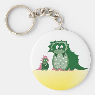 Cute Cartoon Dragons Key Ring