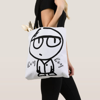 Cute Cartoon Drawing Hey Hey Tote Bag