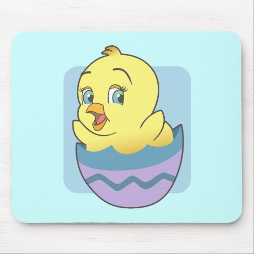 Cute Cartoon Easter Chick Mouse Pad