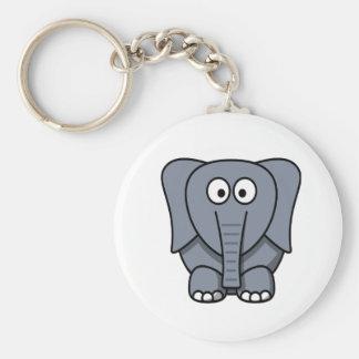 Cute Cartoon Elephant Clipart Keychain