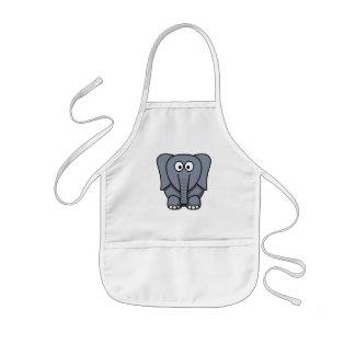 Cute Cartoon Elephant Clipart Kids Apron