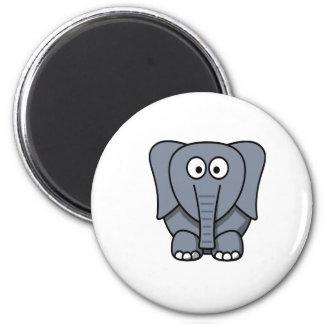 Cute Cartoon Elephant Clipart 6 Cm Round Magnet