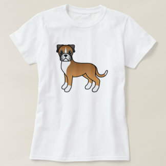Cute Cartoon Fawn Boxer Dog T-Shirt
