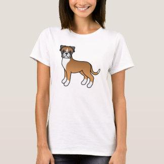 Cute Cartoon Fawn Boxer Dog T-Shirt