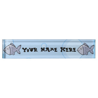 Cute Cartoon Fish Nameplate