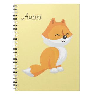 Cute Cartoon Fox Spiral Notebook