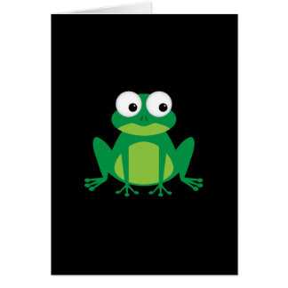 Cute Cartoon Frog Greeting Card