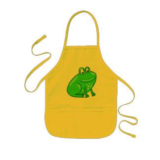 Cute Cartoon Frog Kids Apron