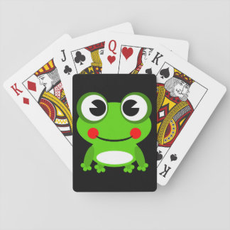 Cute cartoon Frog Playing Cards
