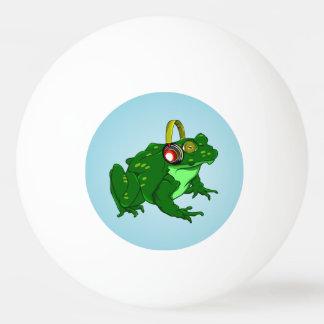 Cute Cartoon Frog Wearing Headphones