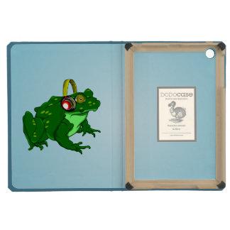 Cute Cartoon Frog Wearing Headphones iPad Mini Retina Cover
